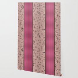 Mid Century Stripes & Starbursts (Hot Pink) Wallpaper