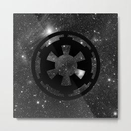 Cosmic Galactic Empire in Black and White Metal Print