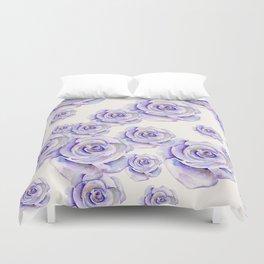 Puple Rose Painting Duvet Cover