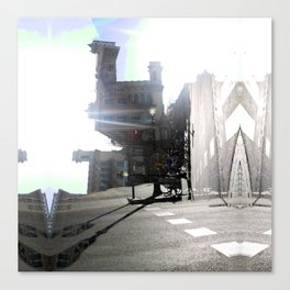 Summer space, smelting selves, simmer shimmers. 10 Canvas Print