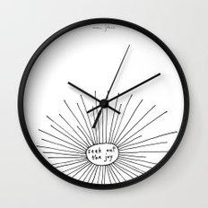 seek out the joy Wall Clock