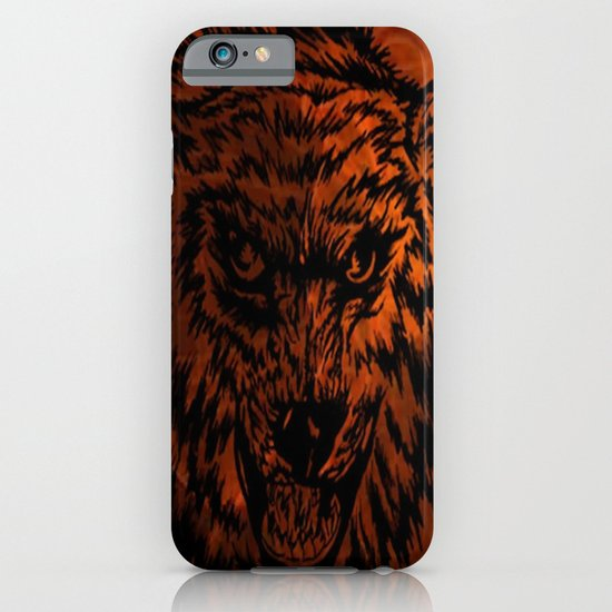 angry wolf fire iPhone & iPod Case