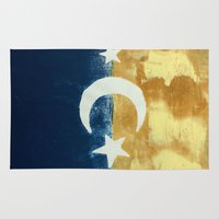 moonrise Area & Throw Rugs featuring Moonrise by Abby Snyder