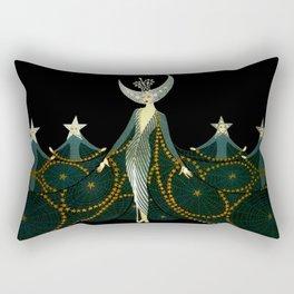 "Art Deco Design ""Queen of the Night"" Rectangular Pillow"