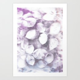 Pastel leaves Art Print