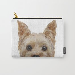 Yorkshire 2 Dog illustration original painting print Carry-All Pouch