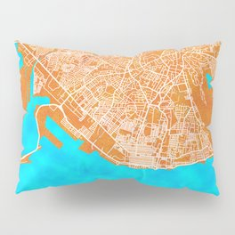 Kingston, Jamaica, Gold, Blue, City, Map Pillow Sham