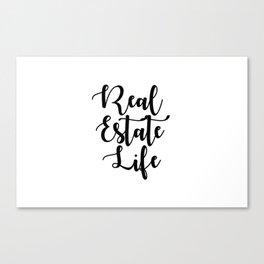 Real Estate Life Canvas Print