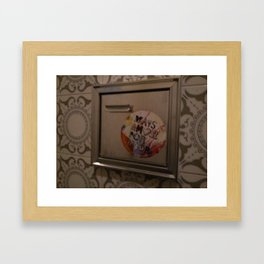 bathroom sticker Framed Art Print