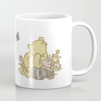 pooh Mugs featuring Classic Pooh by kltj11