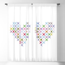 Colored heart Blackout Curtain
