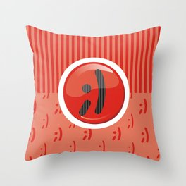 Red Writer's Mood Throw Pillow
