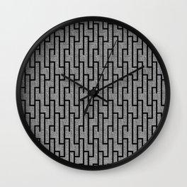 Black and white latticework pattern Wall Clock