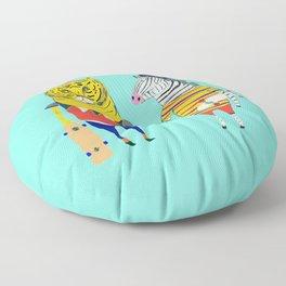 Skateboarding Animals. Floor Pillow