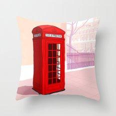 London Telephone Box Throw Pillow