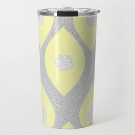 Eye Pattern Yellow Travel Mug