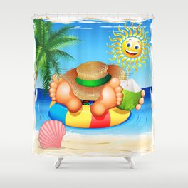 Summer Relax on the Sea Shower Curtain