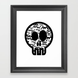 MOOIMOOI SKULL Framed Art Print