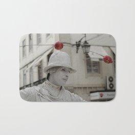 Artist white red Bath Mat