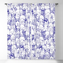 just alpacas blue white Blackout Curtain