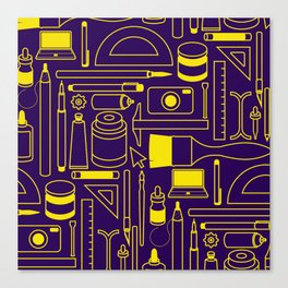 Art Supplies - Eggplant and Yellow Canvas Print