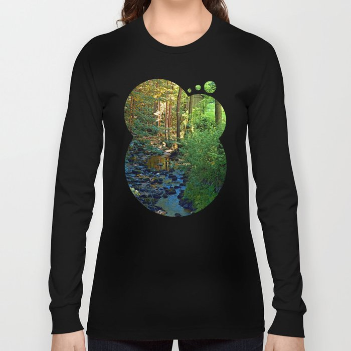 Forest, a river, a valley and summertime Long Sleeve T-shirt