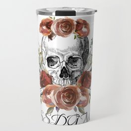 SSDGM skull and flowers Travel Mug