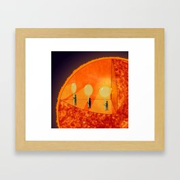Inner Workings of the Sun Framed Art Print