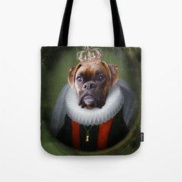Queen Charlie - Boxer Dog Portrait Tote Bag