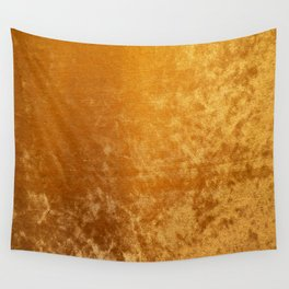 Gold colour velvet fabric background texture Wall Tapestry