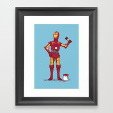 Iron Droid Variant Framed Art Print