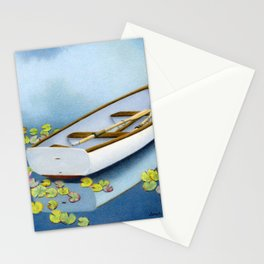 Among The Lily Pads- Square Format Stationery Cards