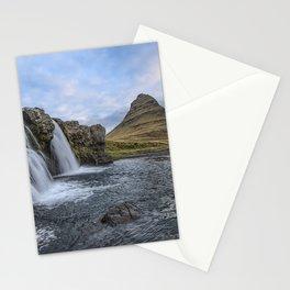 Waterfall Cascade Kirkjufell Mountain Iceland Stationery Cards