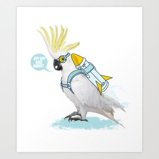 flying duty Art Print