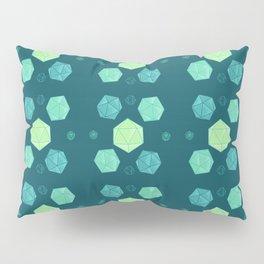 Blue & Green DnD Dice Pillow Sham