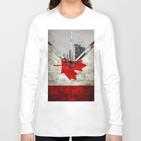 canada Long Sleeve T-shirts featuring Flags - Canada by Ale Ibanez