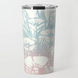 Rainbow Pine Cone Travel Mug