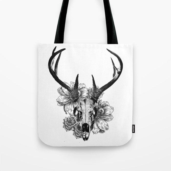 Deer Skull Canvas Bag