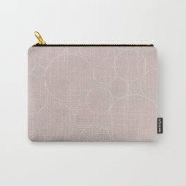 Circular Collage - Neutral Blush Carry-All Pouch