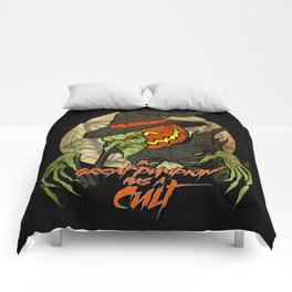 Cult of the Great Pumpkin: Witch Mask Comforters
