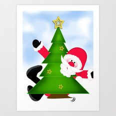 Upsi Santa Claus CB Art Print
