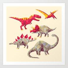 GeoSaurs Art Print