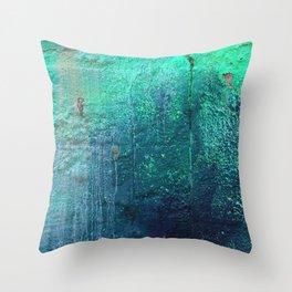 Green Entropy I Throw Pillow