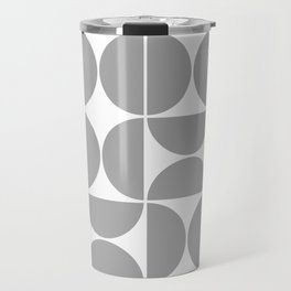 Mid Century Modern Geometric 04 Grey Travel Mug