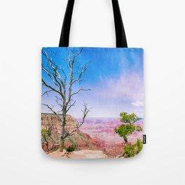 Tree at Grand Canyon's Edge Tote Bag