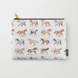 Horses - different colours and markings illustration Carry-All Pouch