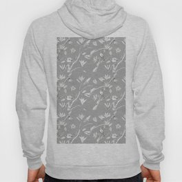 Magnolia flower and birds ink-pen drawing Hoody