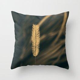 Golden spikelet Throw Pillow