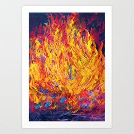 Fire and Passion - Here's to New Beginnings Art Print