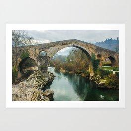 Asturias Roman Bridge Art Print